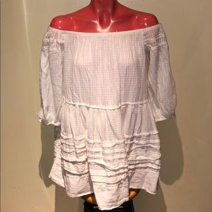 Free people off shoulder top shirt blouse tunic